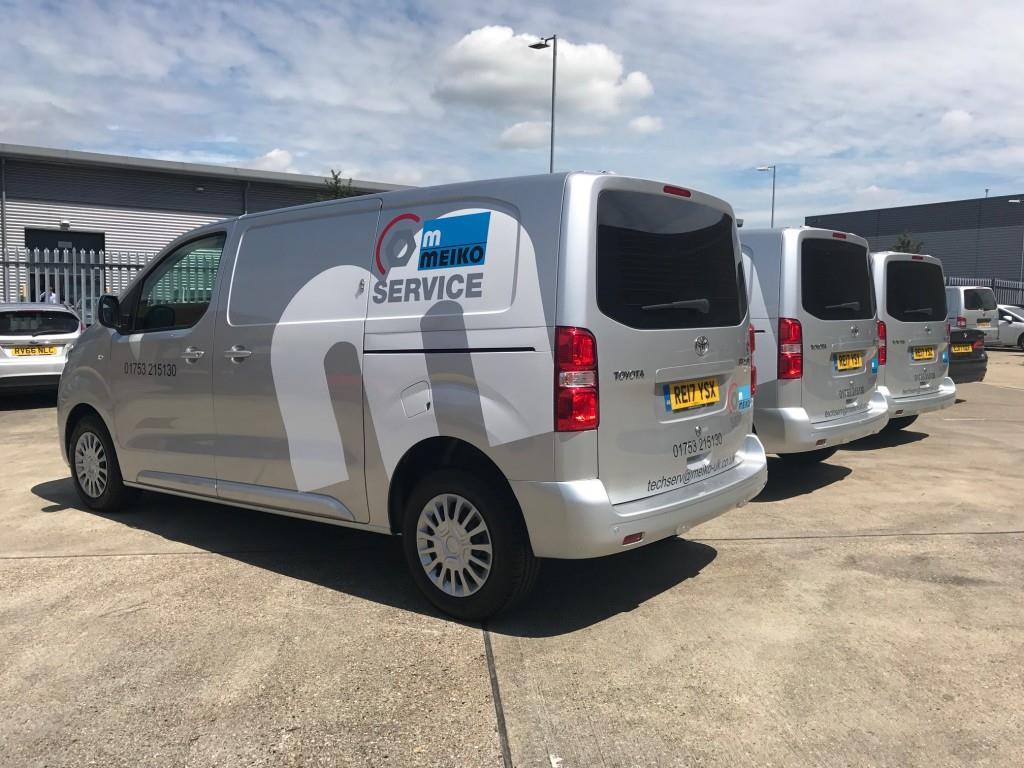 Branding Fleet of Vans With Custom Graphics For Meiko Slough