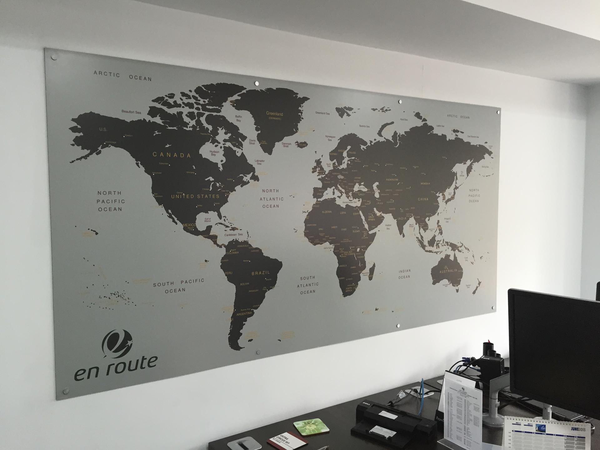 Magnetic World Map Interior Office Signage Windsor