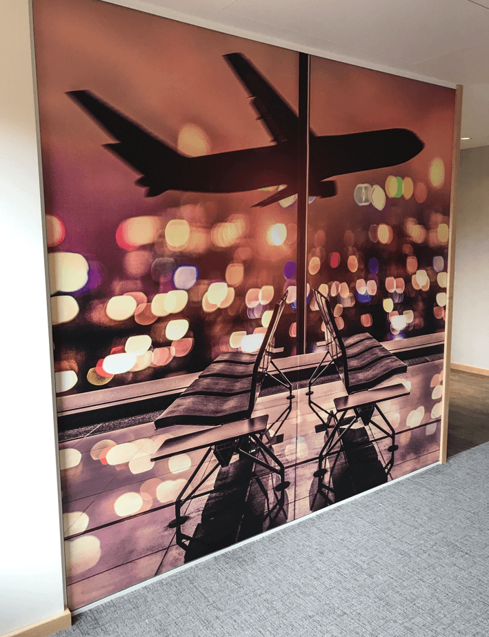 Digitally Printed Wall Graphic Wrap London Heathrow Airport