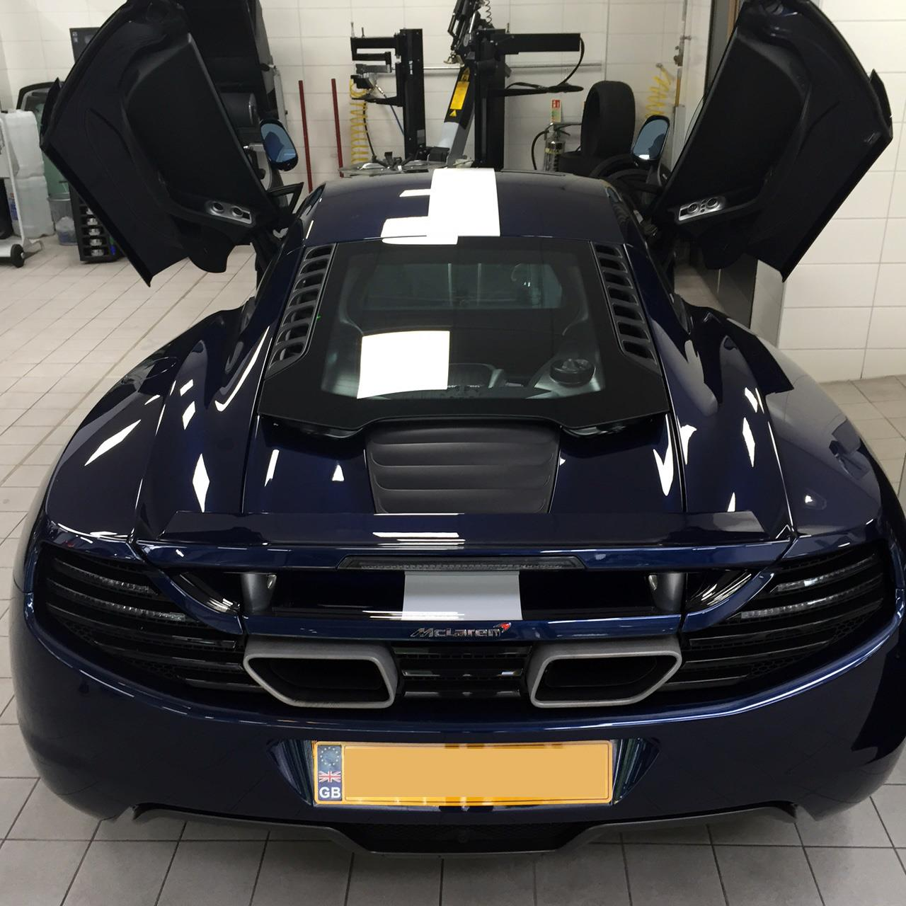McLaren MP4-12C Carbon Fibre Wrapped Air Intakes & Racing Stripe