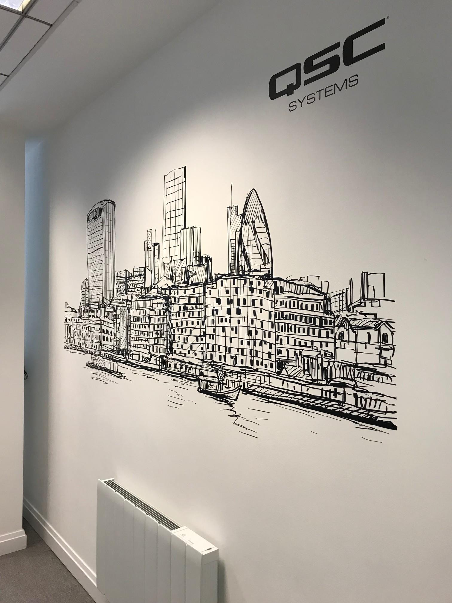 QSC Systems Office Signage And Wall Graphics London
