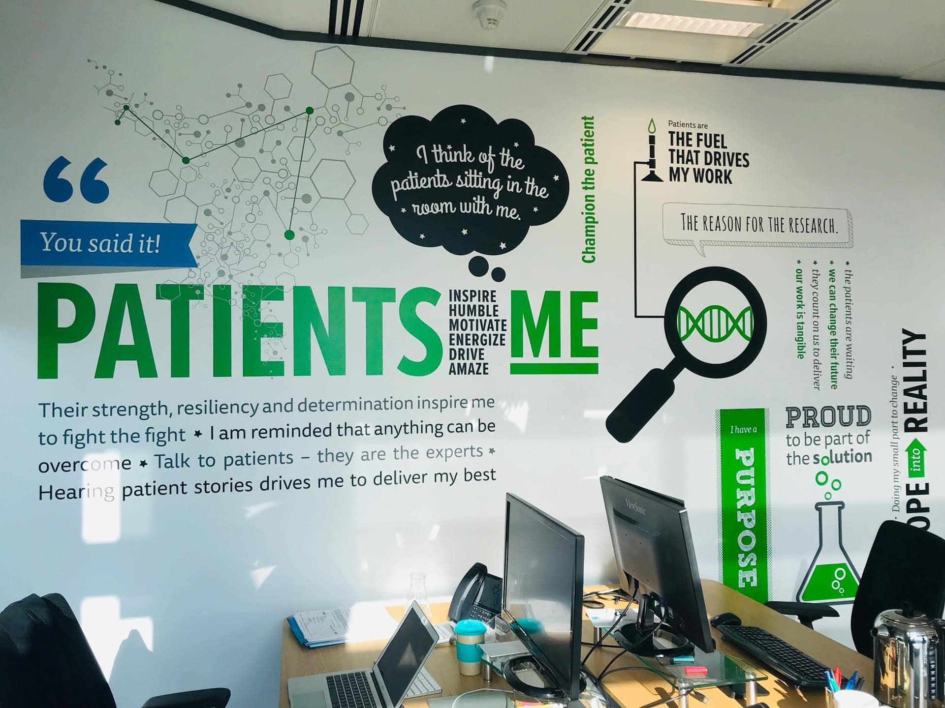 Full Colour Vinyl Wall Graphics For Spark Therapeutic Central London Office