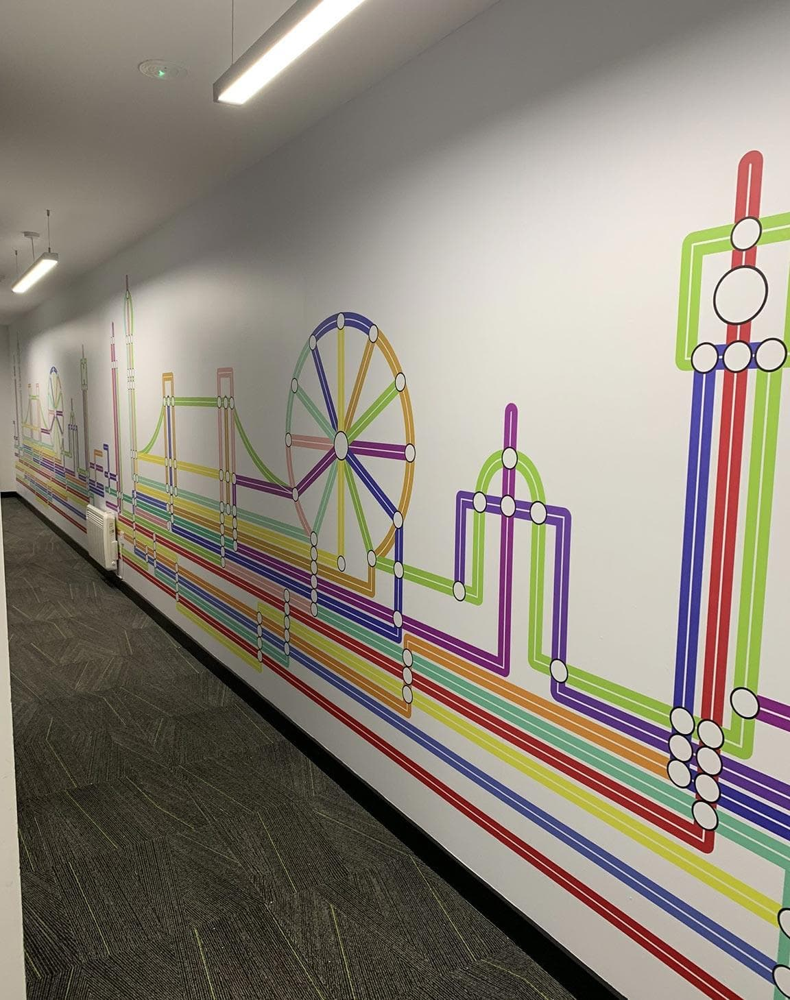 Full-colour vinyl graphic mural for offices in London